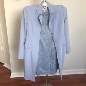 Blue Long Blazer Jacket